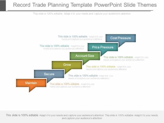 Record Trade Planning Template Powerpoint Slide Themes