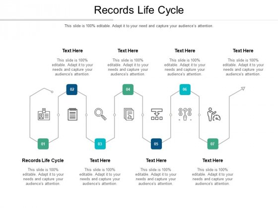 Records Life Cycle Ppt PowerPoint Presentation Gallery Portrait Cpb