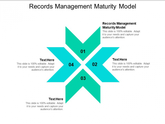 Records Management Maturity Model Ppt PowerPoint Presentation Summary Design Inspiration Cpb