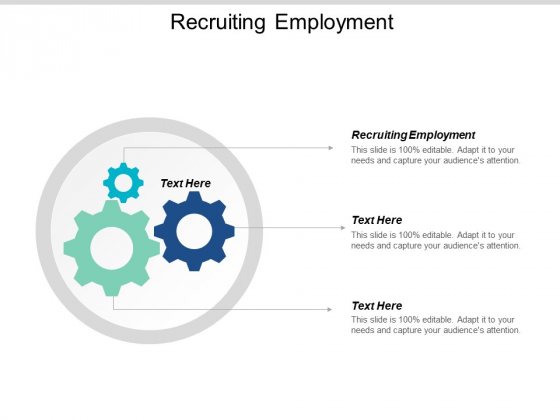 Recruiting Employment Ppt PowerPoint Presentation Infographic Template Display Cpb