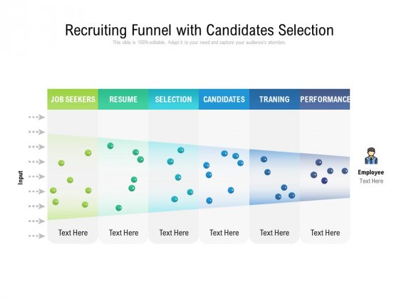 Recruiting Funnel With Candidates Selection Ppt PowerPoint Presentation Icon Infographic Template PDF