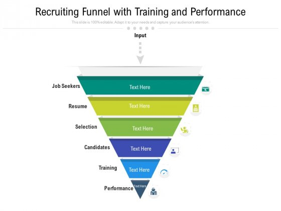 Recruiting Funnel With Training And Performance Ppt PowerPoint Presentation File Objects PDF