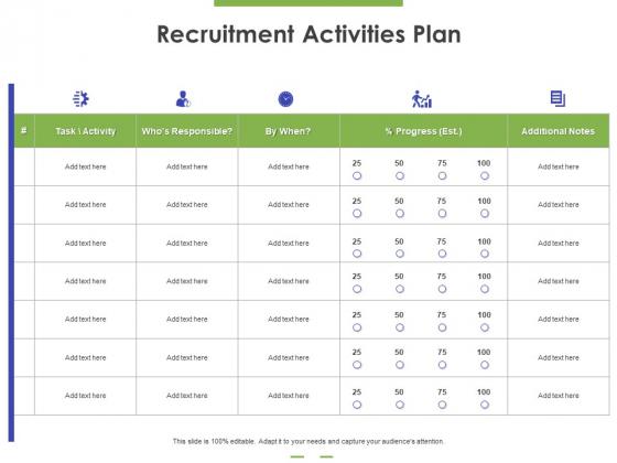 Recruitment Activities Plan Ppt PowerPoint Presentation Inspiration Show PDF