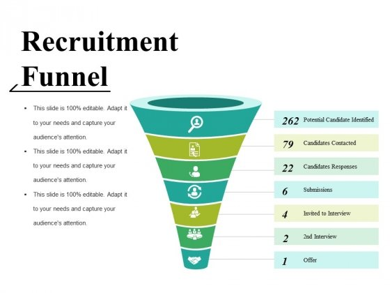 Recruitment Funnel Ppt PowerPoint Presentation Styles Smartart