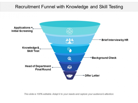 Recruitment_Funnel_With_Knowledge_And_Skill_Testing_Ppt_PowerPoint_Presentation_Show_Brochure_PDF_Slide_1