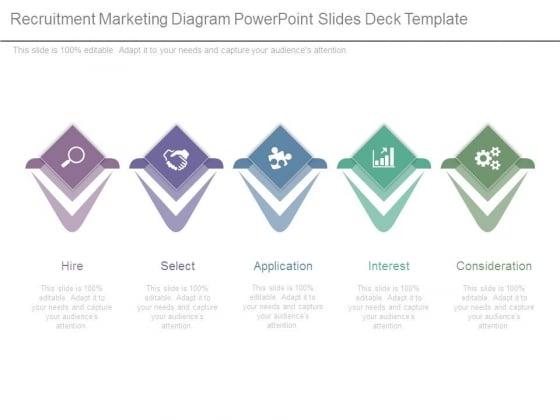 Recruitment Marketing Diagram Powerpoint Slides Deck Template
