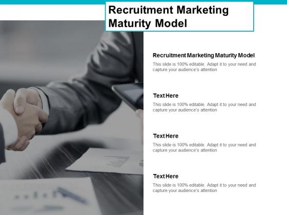 Recruitment Marketing Maturity Model Ppt PowerPoint Presentation Portfolio Diagrams Cpb