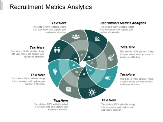 Recruitment Metrics Analytics Ppt PowerPoint Presentation Gallery Backgrounds Cpb