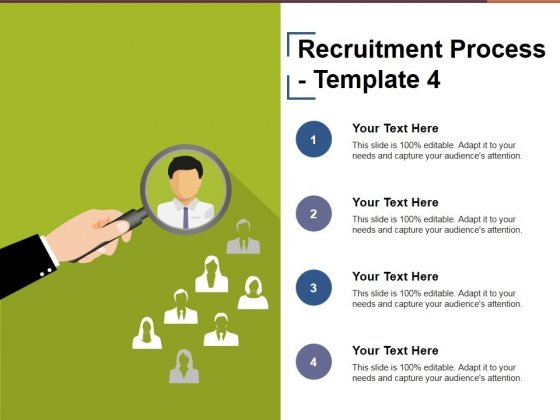Recruitment Process Template 4 Ppt PowerPoint Presentation Infographic Template Styles