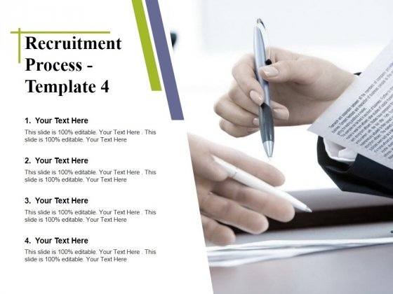 Recruitment Process Template 4 Ppt PowerPoint Presentation Visual Aids Background Images