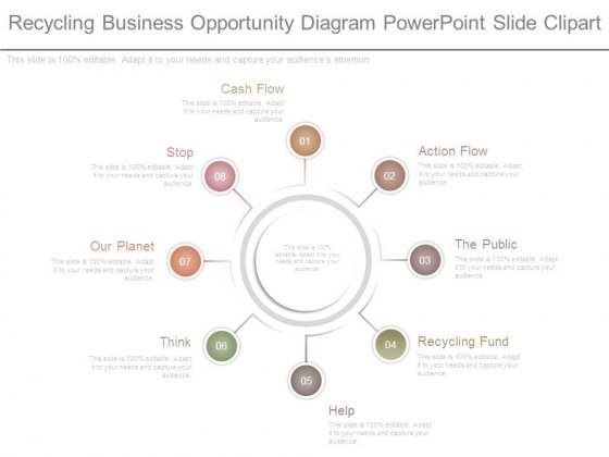Recycling Business Opportunity Diagram Powerpoint Slide Clipart