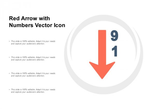 Red Arrow With Numbers Vector Icon Ppt Powerpoint Presentation Layouts Infographic Template