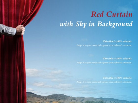Red Curtain With Sky In Background Ppt PowerPoint Presentation File Example Introduction
