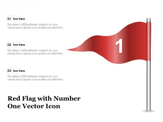 Red Flag With Number One Vector Icon Ppt PowerPoint Presentation Summary Graphics Download PDF