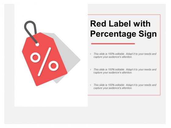 Red Label With Percentage Sign Ppt PowerPoint Presentation Portfolio Slide