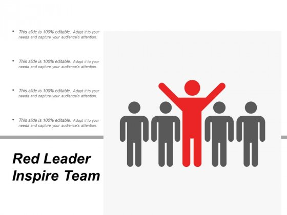 Red Leader Inspire Team Ppt PowerPoint Presentation Professional Picture
