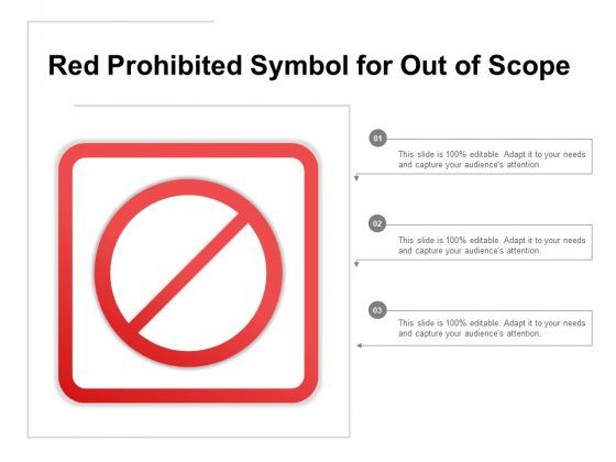 Red Prohibited Symbol For Out Of Scope Ppt PowerPoint Presentation Summary Brochure