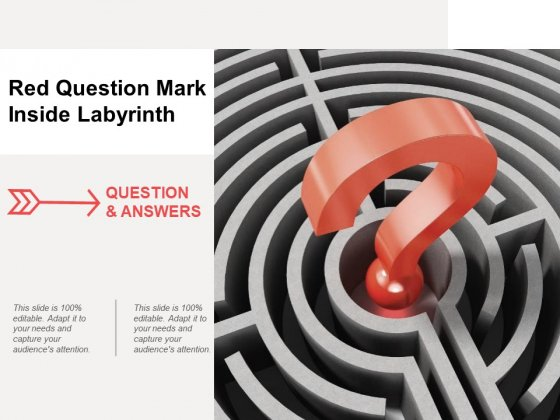 Red Question Mark Inside Labyrinth Ppt PowerPoint Presentation Icon Slides