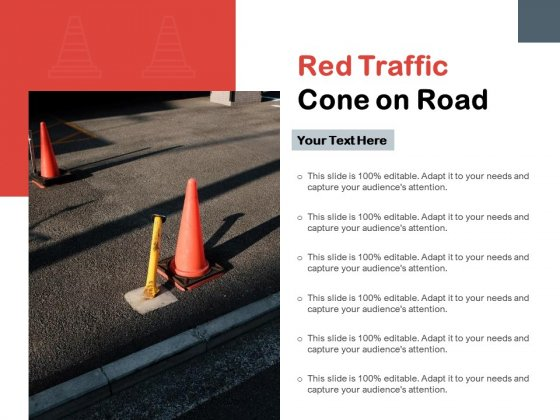 Red Traffic Cone On Road Ppt PowerPoint Presentation Pictures Maker PDF