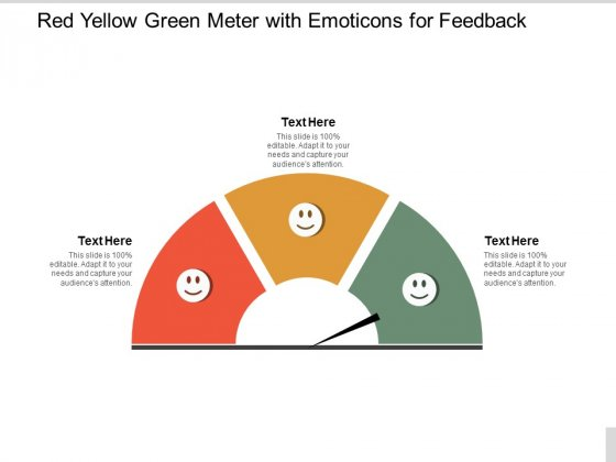 Red Yellow Green Meter With Emoticons For Feedback Ppt PowerPoint Presentation Ideas Template