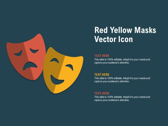 Red Yellow Masks Vector Icon Ppt PowerPoint Presentation Summary Ideas