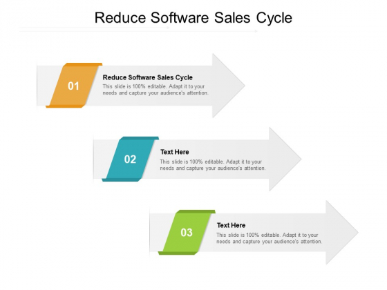 Reduce Software Sales Cycle Ppt PowerPoint Presentation Portfolio Ideas Cpb Pdf