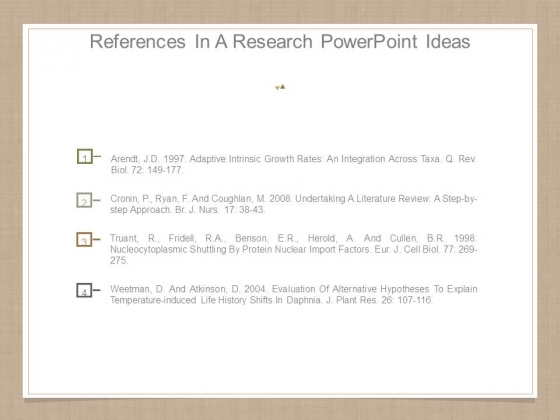 References In A Research Powerpoint Ideas
