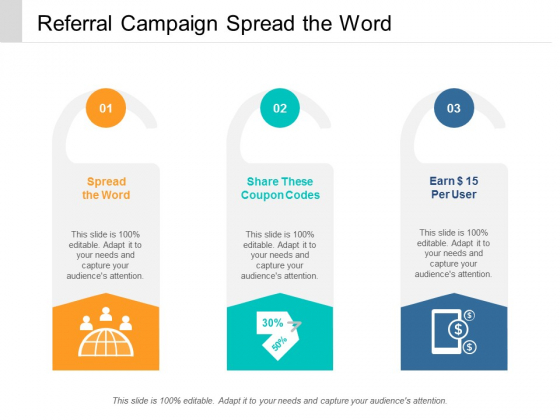Referral Campaign Spread The Word Ppt Powerpoint Presentation Inspiration Objects