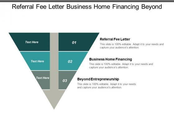 referral fee letter business home financing beyond entrepreneurship ppt powerpoint presentation gallery demonstration