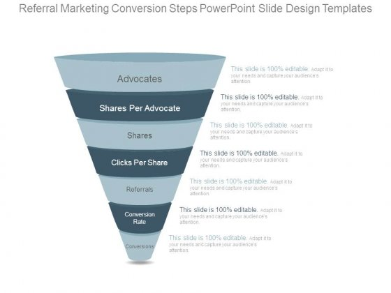 Referral Marketing Conversion Steps Powerpoint Slide Design Templates