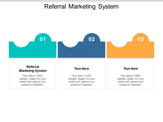 Referral Marketing System Ppt PowerPoint Presentation Pictures Visual Aids Cpb