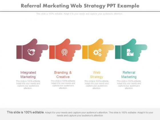 Referral Marketing Web Strategy Ppt Example
