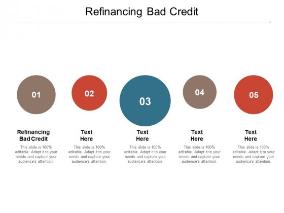 Refinancing Bad Credit Ppt PowerPoint Presentation Ideas Graphic Tips Cpb Pdf