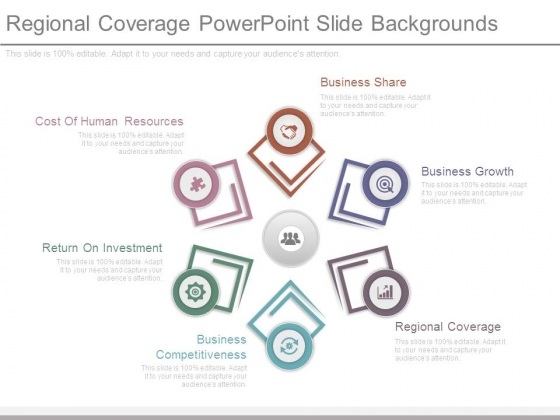 Regional Coverage Powerpoint Slide Backgrounds