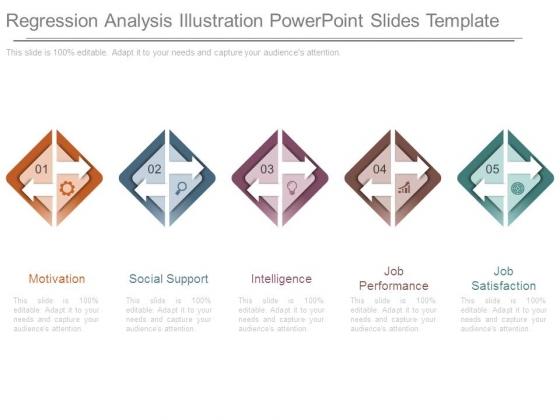 Regression Analysis Illustration Powerpoint Slides Template