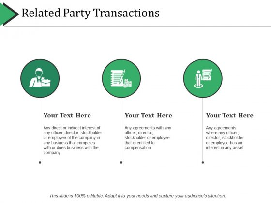 Related Party Transactions Ppt PowerPoint Presentation Slides Show
