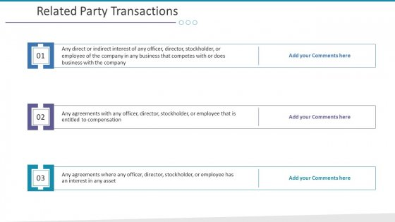 Related Party Transactions Ppt Slides Summary PDF