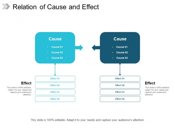 Relation Of Cause And Effect Ppt Powerpoint Presentation File Vector