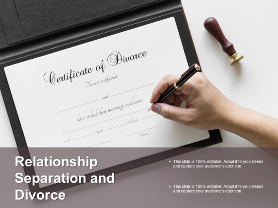 Relationship Separation And Divorce Ppt Powerpoint Presentation Show Good