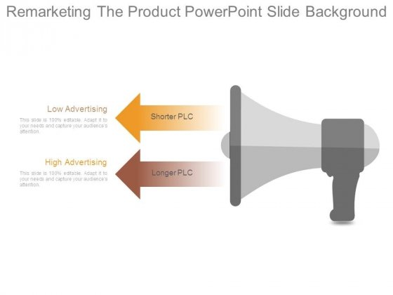 Remarketing The Product Powerpoint Slide Background