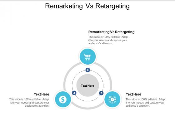 Remarketing Vs Retargeting Ppt PowerPoint Presentation Infographics Inspiration Cpb