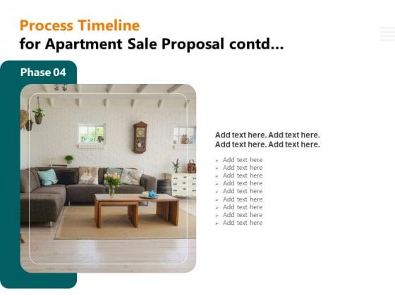 Rent Condominium Process Timeline For Apartment Sale Proposal Contd Process Timeline Apartment Themes PDF