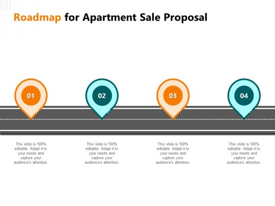 Rent Condominium Roadmap For Apartment Sale Proposal Ppt Portfolio