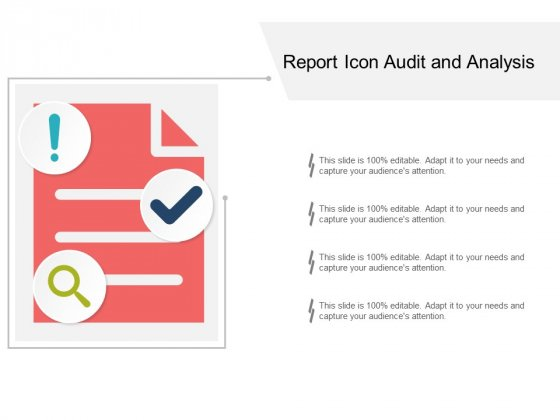 Report Icon Audit And Analysis Ppt PowerPoint Presentation Portfolio Infographic Template