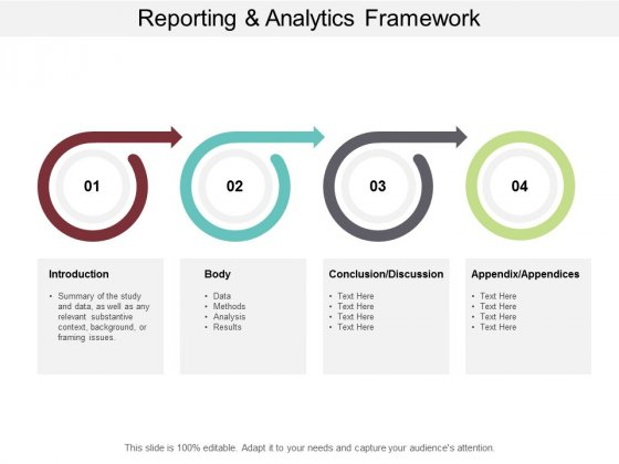 Reporting And Analytics Framework Ppt PowerPoint Presentation Inspiration Graphics Example