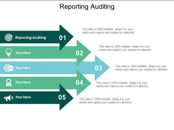 Reporting Auditing Ppt PowerPoint Presentation Infographics Slides Cpb