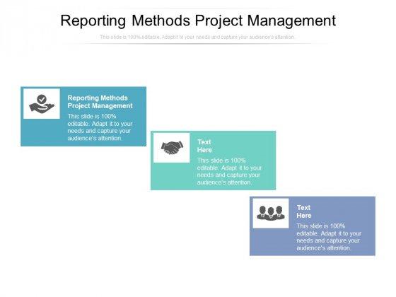 Reporting Methods Project Management Ppt PowerPoint Presentation Guidelines Cpb