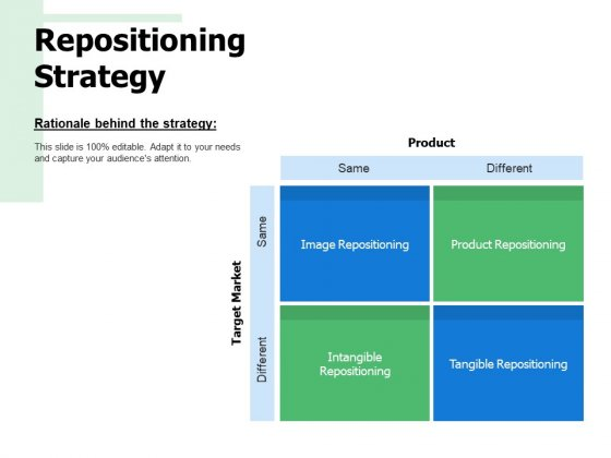 Repositioning Strategy Ppt PowerPoint Presentation Infographics Icon