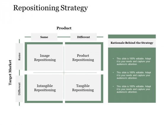 Repositioning Strategy Ppt PowerPoint Presentation Inspiration Template