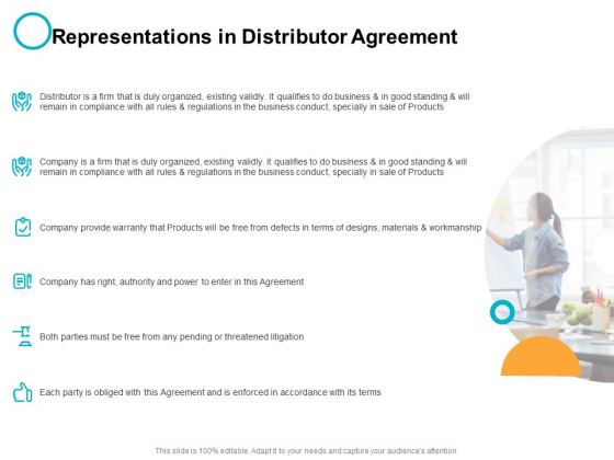 Representations In Distributor Agreement Ppt PowerPoint Presentation Ideas Maker